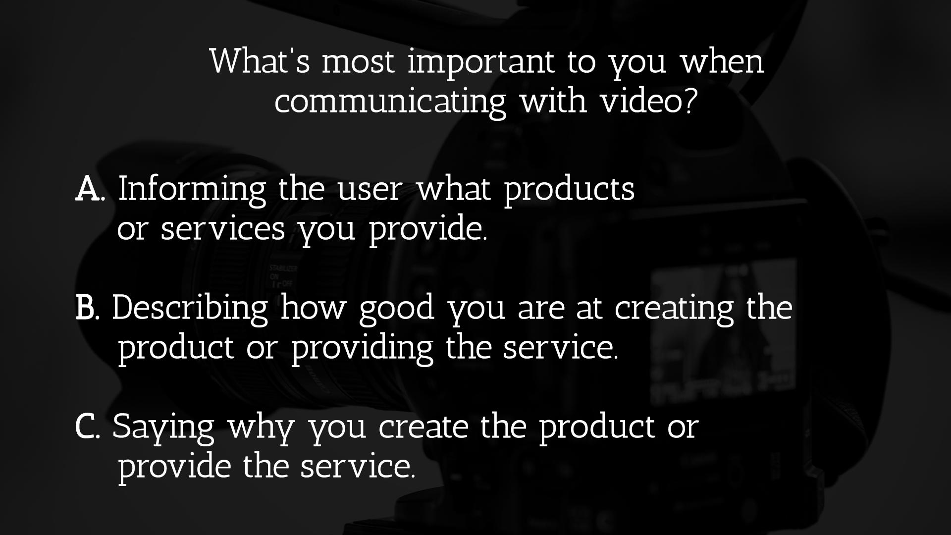 Video Survey
